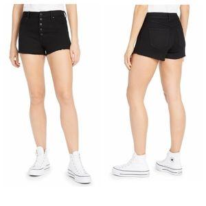 Rewash The Wedgie Super High Rise Black Shorts